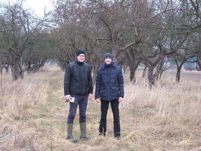 Christian Sievers (l.) und Faris Anabtawi (NABU)