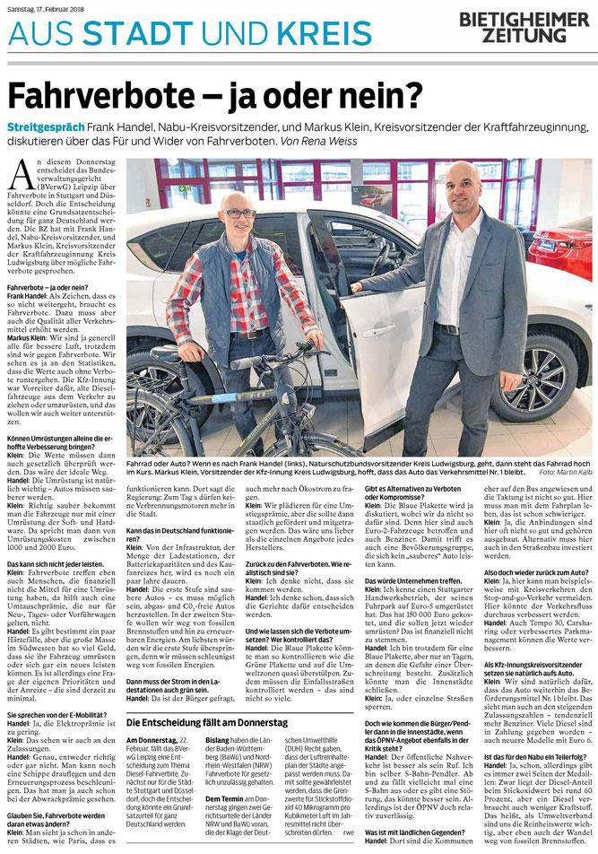 Bietigheimer Zeitung vom 17.02.2018