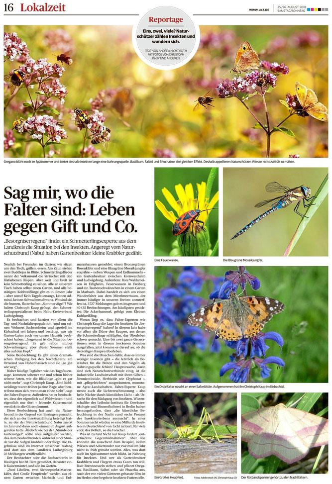 Ludwigsburger Kreiszeitung vom 25.08.2018