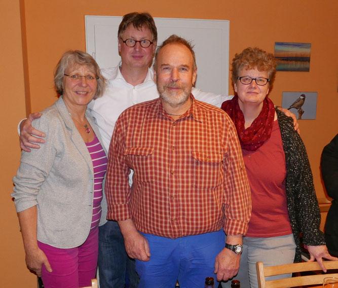 Vorstand des NABU-Kreisverbands Schaumburg: M. Rollinger, J. Rummel, W. Bader und B. Wawrok (vlnr). - Foto: Manfred Krause