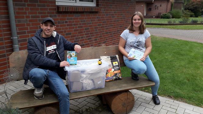 Die neuen Materialkisten wurden in die Kindergärten gebracht, hier in die Kita Oerel (Foto: Bettina Schroeder)