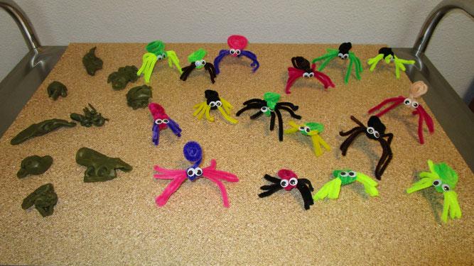 Knettiere und bunte Spinnen wecken Sympathie für Krabbeltiere. Foto: Lisa Bechtloff