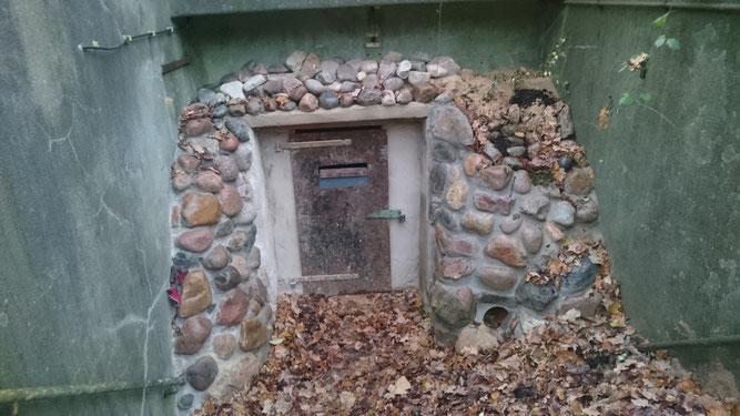 Eingang des neuen Fledermaus-Winterquartiers in Rotenburg