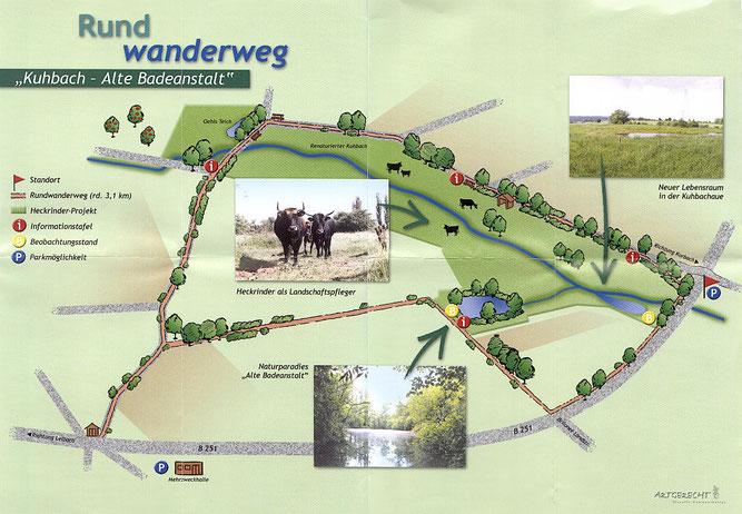 Flyer Rundwanderweg Kuhbach - Alte Badeanstalt