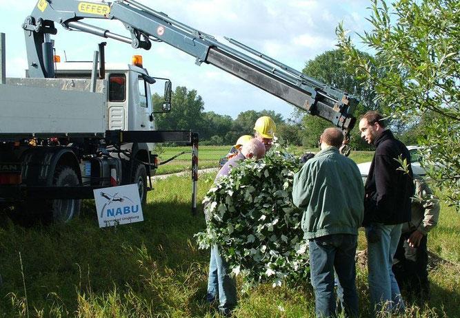 Aufstellung Storchenmast Hamm mithilfe EWR