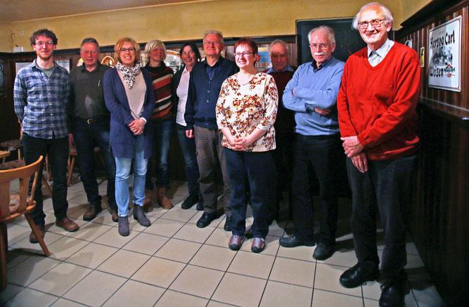 Das Foto zeigt den Vorstand, der auf zwei Jahre gewählt wurde. Foto: Gerti Potschien-Roth