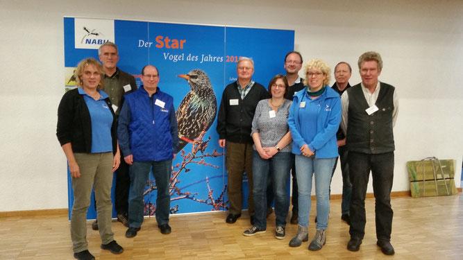 Foto NABU (von links nach rechts): Sabine Brandt, Jost Einstein, Michael Apfel, Siegried Frosdorfer, Vera Schlossbauer, Frieder Mauch, Kerstin Wernicke, Hubert Breitruck, Martin Rösler