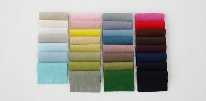 リネン 巾着 製作