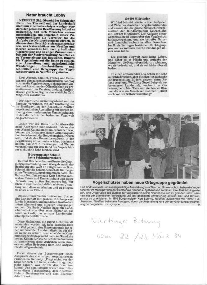 Eröffungsveranstaltung 1984