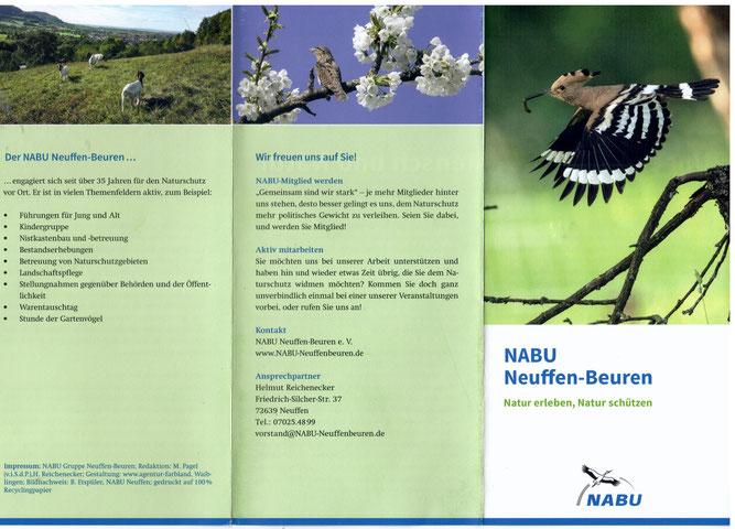 Broschüre des NABU Neuffen Beuren e.V.