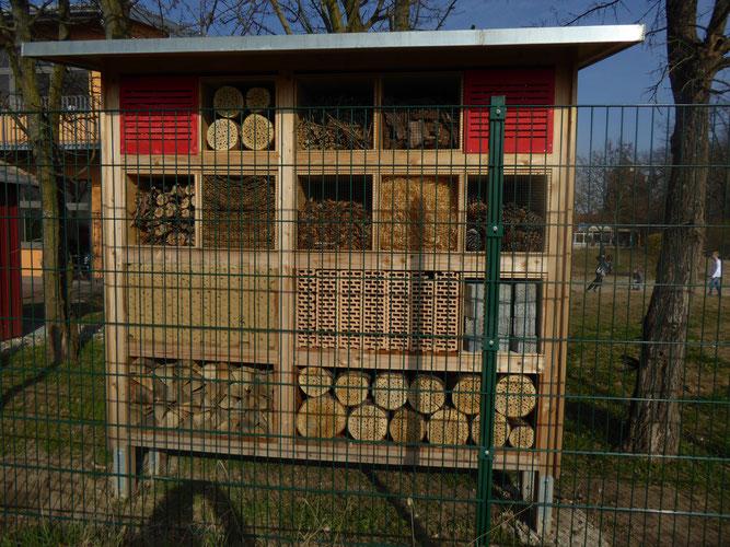 insektenhotel grundschule dornheim nabu gro gerau. Black Bedroom Furniture Sets. Home Design Ideas