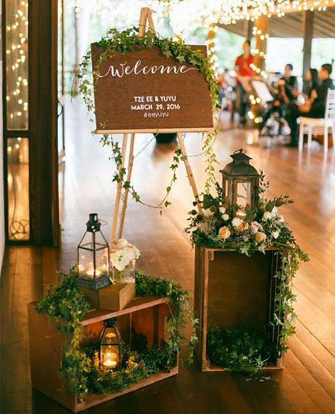 decoracion recepcion de boda