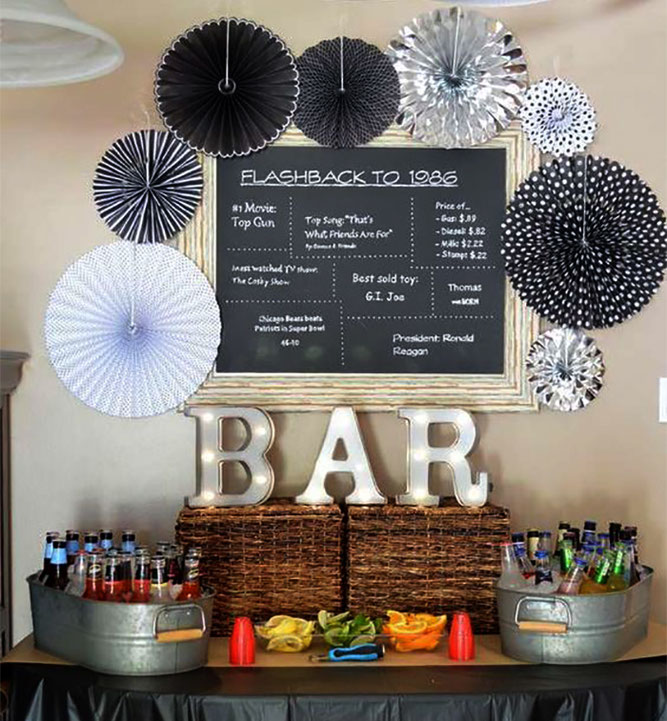 decoracion cumpleaños bar hombre
