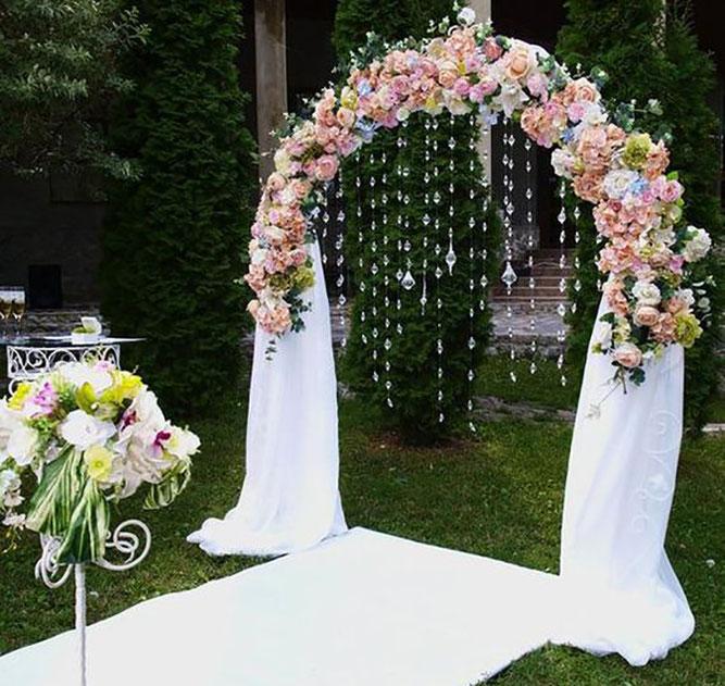 arco de flores para matrimonio