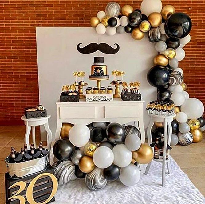 decoracion para cumpleaños de hombre