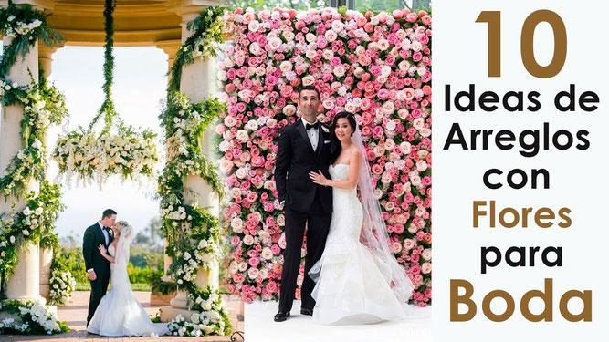 10 ideas de arreglos de flores para boda