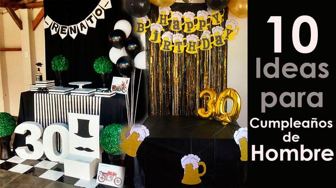 10 ideas de decoracion para cumpleaños de hombre