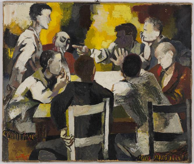 """Renato Guttuso, """"La discussione"""" (1957)"""