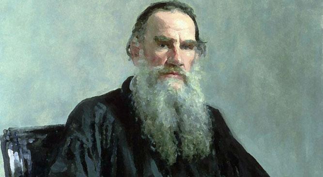 Lo scrittore in un ritratto di Il'ja Efimovič Repin (1887)