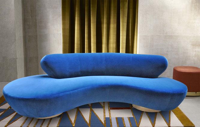 vladimir kagan curved sofa Torino