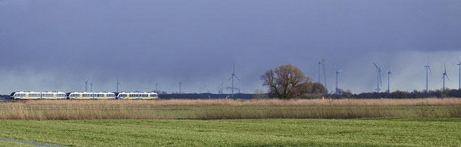 Windkraftanlagen bei Wremen (Foto: Witt)