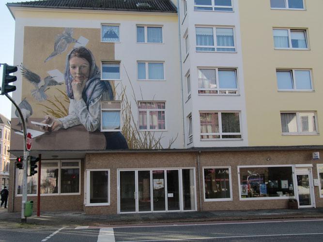 NABU-Geschäftsstelle (rechts) in der Grashoffstraße (Foto: Ingrid Leefoge)