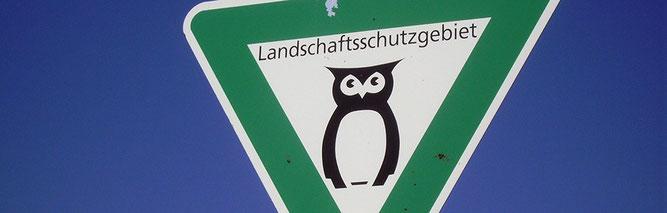Landschaftsschutzgebiet-Schild (Foto: Witt)