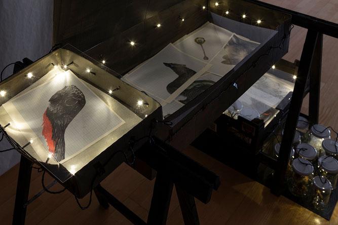 """Ausstellungsansicht """"Regenmacher"""", 2020, Anna Maria Brandstätter, DOK St. Pölten"""