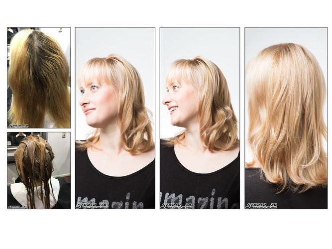 Blond vorher nachher