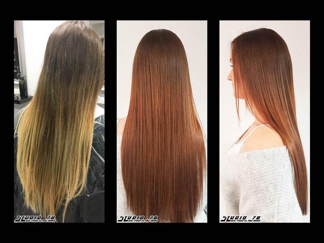 Coloration Haarfarbe vorher nachher