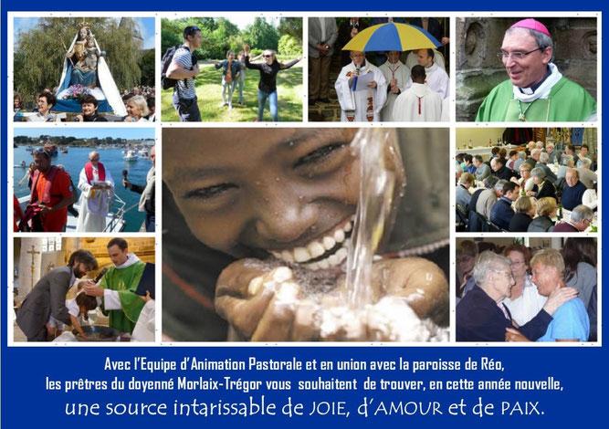 La carte de voeux 2016 du doyenné  se veut être sous le signe de l'eau, source de vie, de don, de partage...