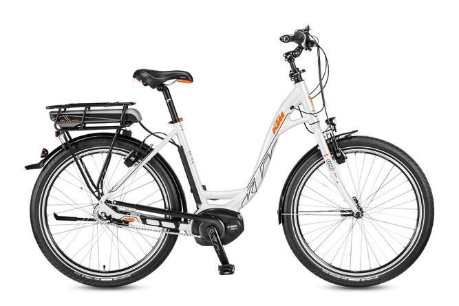"KTM MACINA BOLD 8 A5 26"" City e-Bikes 2017"