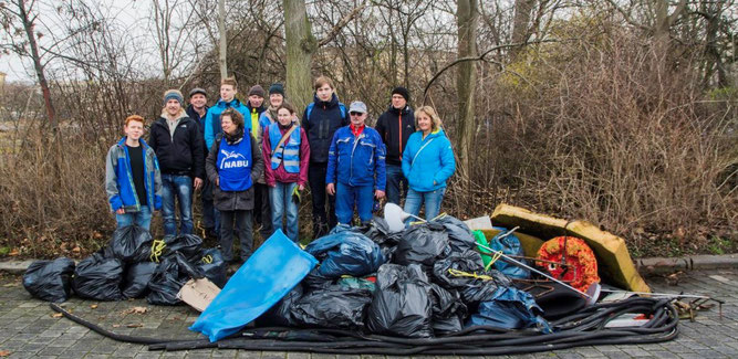 Ergebnis der zweistündigen Müllsammelaktion auf dem Wilhelm-Leuschner-Platz. Foto: Ludo Van den Bogaert