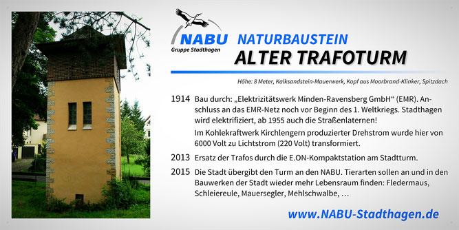 Alter Trafoturm, Stadthagen - Foto: Jörg Rummel - Layout: Britta Raabe