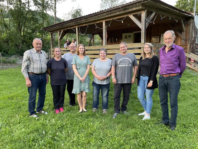 v.l.n.r.: Otto Steck, Nicole Sepbach, Christian Gleiss, Heidi Gebert, Regina Herrmann, Marco Sauer, Anna-Lena Waldmann, Wolfgang Hafner