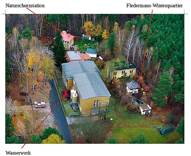 Naturschutzstation des NABU RV Spremberg direkt neben dem Wasserwerk