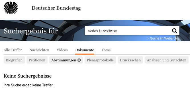 Screenshot bundestag.de