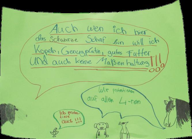 Selbstgestaltetes Demoplakat aus Leipzig. Foto: NABU/Harald Franzen