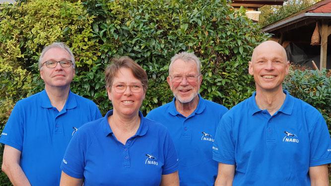 (c) Marina Hjelm / Der Vorstand des NABU Geesthacht (v.l.n.r.): Jürgen Vollbrandt, Heike Kramer, Peter Mierow, Hartmut Haberlandt