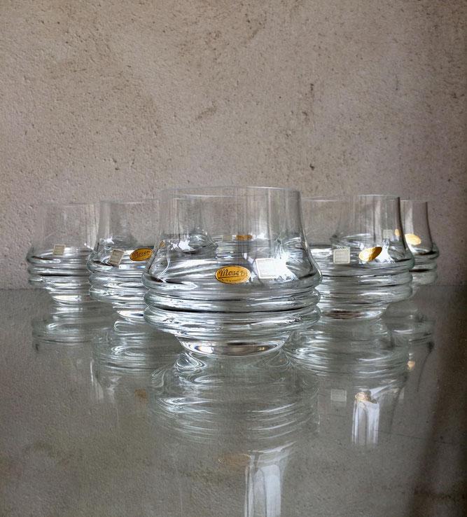 verres vintage, verres Moser, Moser Bruno Morbelli, cristallerie Moser