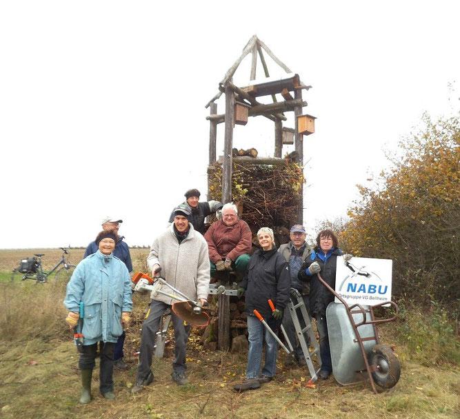 Im Jahr 2014 haben wir den Lebensturm in der Bellheimer Feldflur fertig gestellt. (Foto: Joachim Zürker)