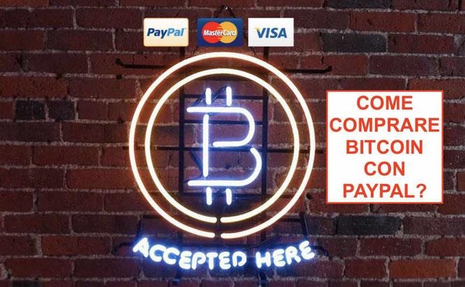 coinbase paypal italia come comprare bitcoin