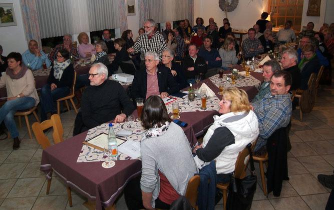 60 Zuhörer beim Vortrag über Glyphosat. (Foto: Hofherr)