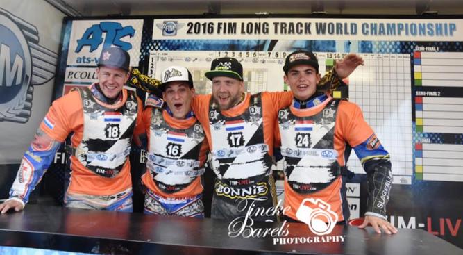 WK Langbaan team 2016: Dirk Fabriek, Jannick de Jong, Theo Pijper en Romano Hummel