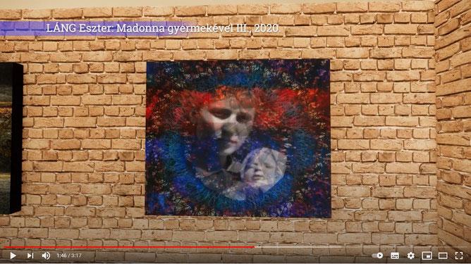 Láng Eszter: Madonna gyermekével III. című alkotása a Magyar Elektrográfiai Társaság Téli Tárlat online kiállításán (a képre kattintva megnézhető a kiállítás)