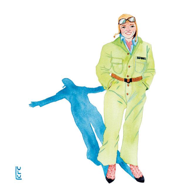 Jane Goodall, Portrait, Jane Goodall Portrait, Aquarelle, Wasserfarbe, Watercolor, Frauenportrait, Editorial