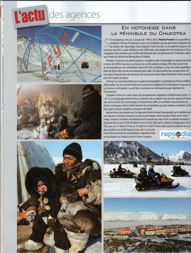 Chasseur d'images, Chukotka, Rapsodia, Patrice Foresti
