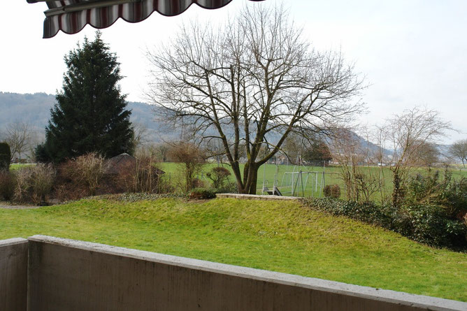 Schöner Ausblick vom Balkon auf der Westseite