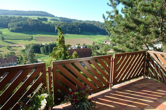 Fantastisch: Die Aussicht vom Balkon