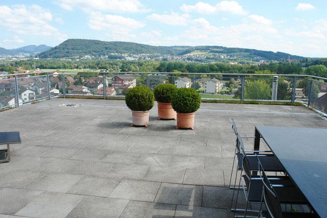 Terrasse mit fantastischer Aussicht